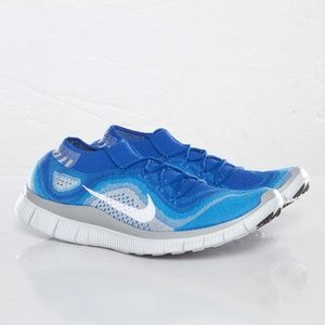 New NIKE FLYKNIT FREE 5.0 Royal Blue Wolf Grey 14